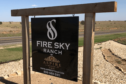 Fire Sky Ranch sign
